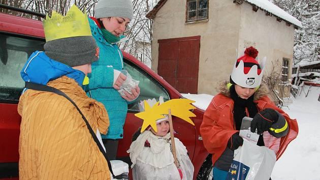 Tříkrálová sbírka v sobotu 12. ledna v Moravči na Pelhřimovsku.