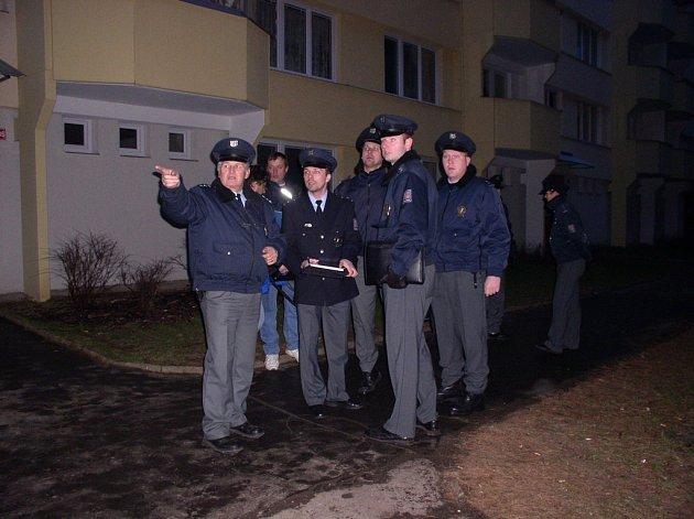 Policejní manévry v Pelhřimově