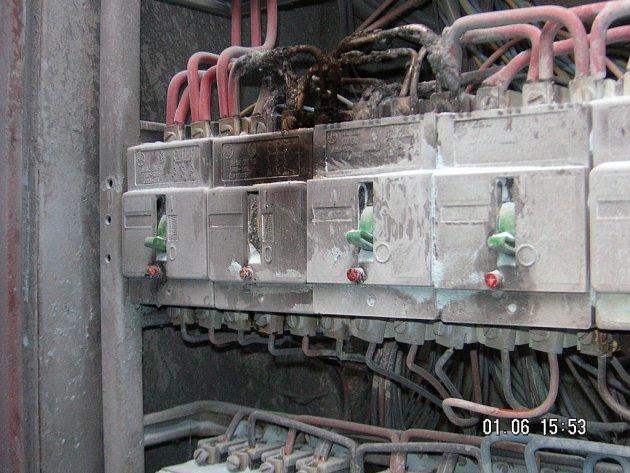 Po zásahu bleskem začal hořet v restauraci v Horní Cerekvi elektrický rozvaděč