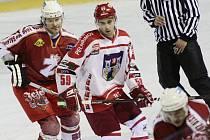 Hráči pelhřimovského Spartaku (ve světlém Martin Hadrava) vyhlížejí zaslouženou dovolenou.