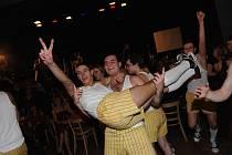 Maturitní ples strojařů ze Střední průmyslové školy v Pelhřimově.