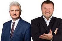 Ve volebním obvodu, kam spadá Pelhřimovsko, se utkají současný senátor Milan Štěch, vlevo (ČSSD) a Jaroslav Chalupský (Svobodní).