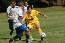 Fotbalisté Nového Rychnova nakonec herní převahu v zápase proti Božejovu zúročili. Střelecky se ale prosadili až ve druhém poločase.