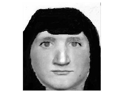 Identikit neznámého pachatele z loupežného přepadení pošty v Horní Cerekvi