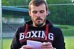 Martin Borek. Trenér boxu, který připravuje hokejisty Pelhřimova.