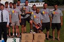 Družstvo profesionálních hasičů z kraje Vysočina skončilo na Mistrovství republiky v Pardubicích na třetím místě