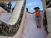 Děti si užívaly svůj svátek na několika stanovištích.