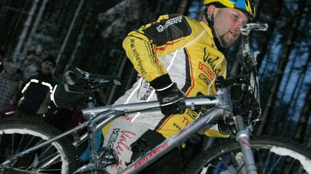 Slalom horských kol na Křemešníku.