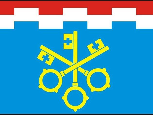 Návrh prvního znaku a vlajky obce Koberovice. Autor Jan Tejkal