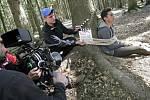 U Černovic natáčejí filmaři.