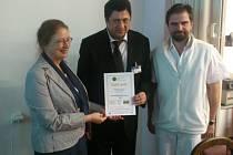 Ocenění pelhřimovské nemocnice