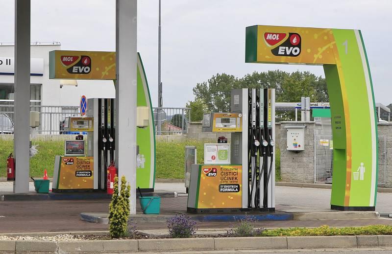 Ceny benzínu v Pelhřimově – červenec 2021.