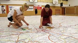 Pelhřimov má největší mapu z puzzlí.