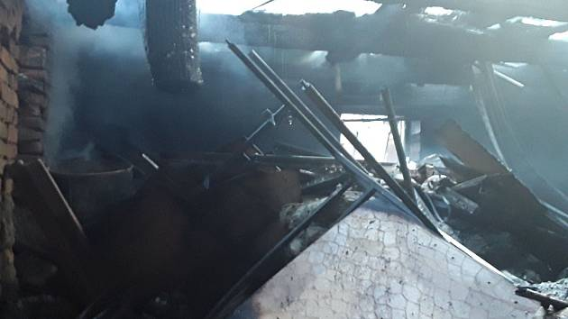Požár rodinného domu v Horní Cerekvi.