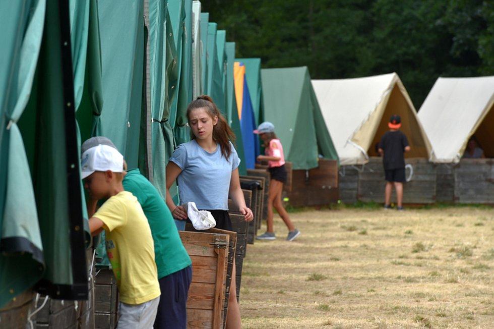 Dětský tábor, ilustrační foto