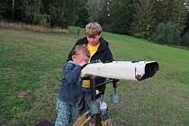 Mobilní astronomická expedice připravila na pátek 30. srpna večer program pro návštěvníky tábora z řad laiků.