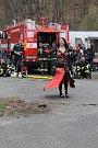 V Želivě se konalo společné cvičení organizace Hasiči Želiv 2, která se zabývá výcvikem psů, a dobrovolných hasičů z okolí.