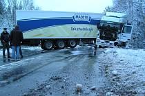 Nehoda kamionu u Pravíkova
