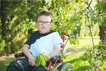 Štěpánek Malina z Křelovic trpí svalovou dystrofií typu Duchenne, která ho od jeho osmi let upoutala na vozík.