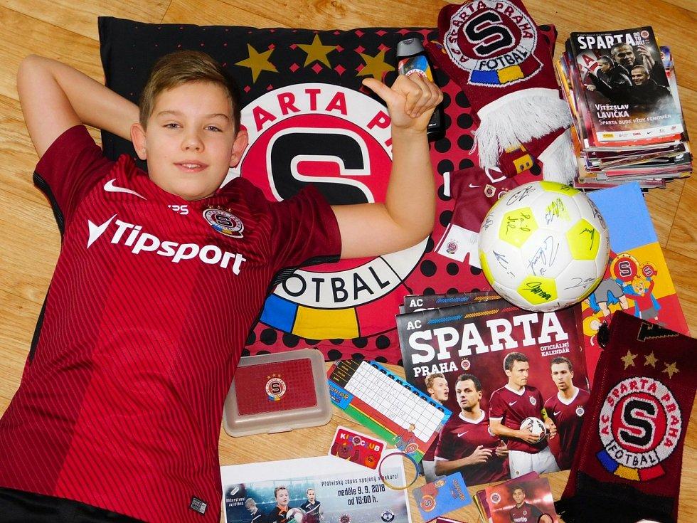 Fotbalový fanoušek Tomáš Hůlka z Pelhřimova.
