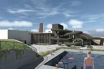 Vizualizace nového rekreačního areálu v Pelhřimově.