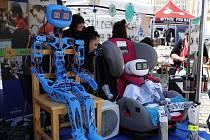 Robota Pepína vytvořili studenti SPŠ a SOU Pelhřimov.