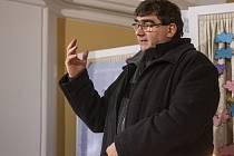 Na setkání promluvil pelhřimovský vikář Josef Sláčík.