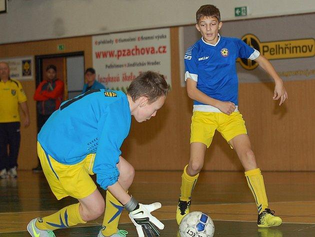V pelhřimovské sportovní hale uspořádal FK Pelhřimov Vánoční fotbalový turnaj mladších žáků.