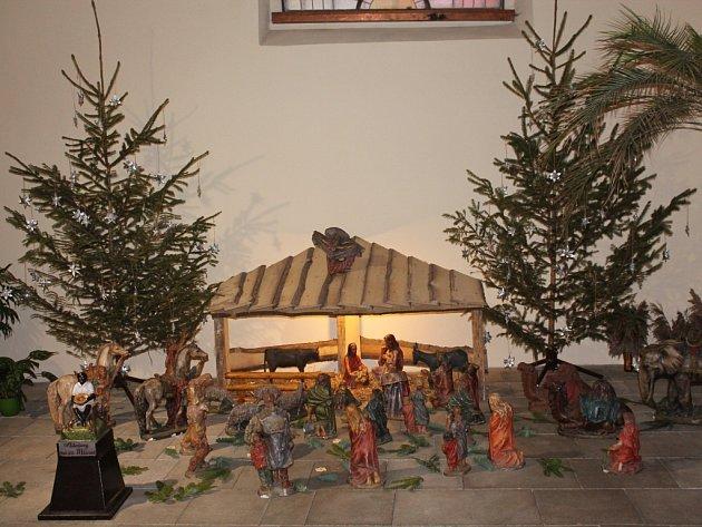 Jesličky v kostele svatého Bartoloměje v Pelhřimově.