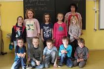 Na fotografii jsou žáci ze ZŠ a MŠ Olešná, 1. třída paní učitelky Jindřišky Jaglové. Příště představíme prvňáčky ze ZŠ a MŠ Žirovnice.