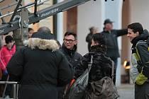 Centrum Pelhřimova žilo odpoledne přípravami na natáčení.