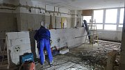 Rekonstrukce Hotelové školy v Pelhřimově.