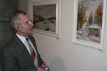 Dernisáž výstavy obrazů Pavla Dvořáka