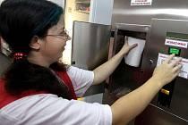 Automat na mléko.