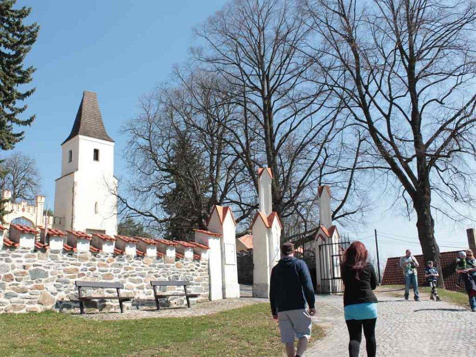 Na hradě Kámen.