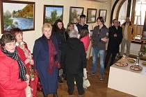 Vernisáž výstavy obrazů Hany Benešové s názvem Poezie české krajiny