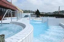Venkovní část pelhřimovského bazénu