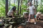 Dětský tábor v duchu expedice Archeo v Chaloupkách u Nového Rychnova.