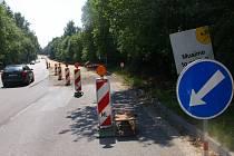 Rekonstrukce části silnice od kruhového objezdu v Humpolci až k dálnici.