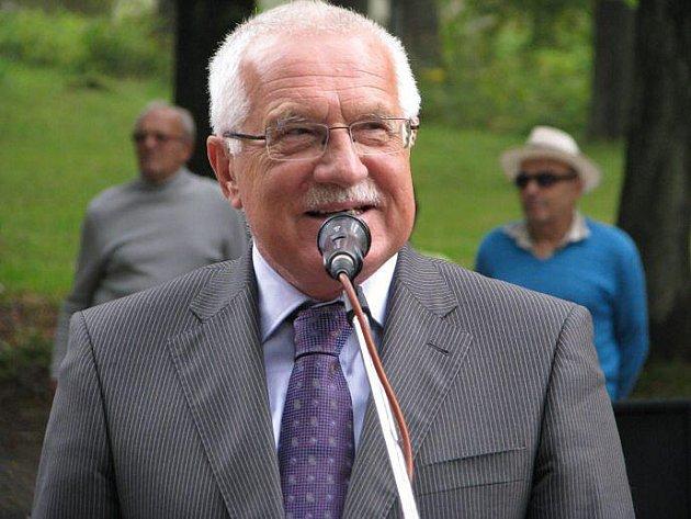 Václav Klaus navšívil Pelhřimovsko