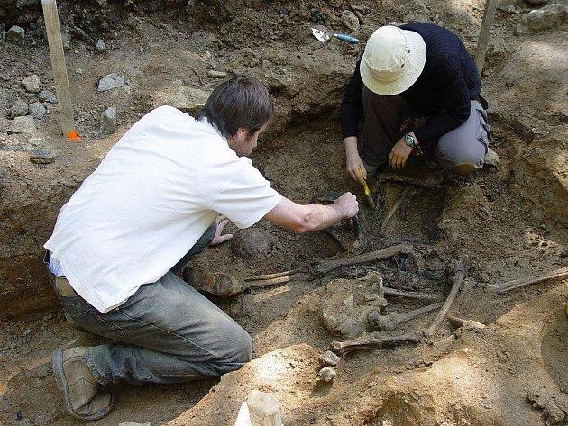 První kosterní pozůstatky byly na louce Budínka u Dobronína objeveny v srpnu 2010. Loni v květnu byly vyzvednuty další tři kostry.