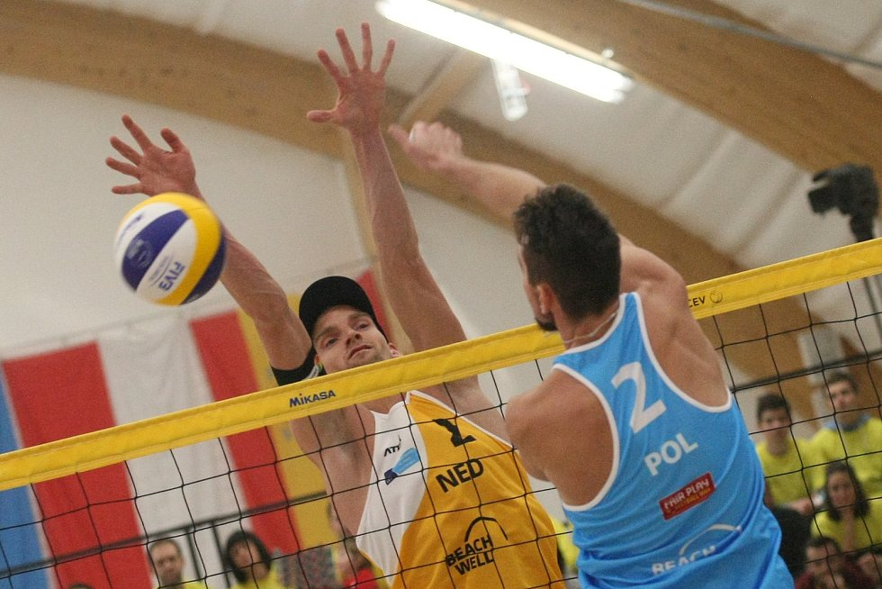 Finálová utkání  turnaje v plážovém volejbale CEV Masters v Pelhřimově.