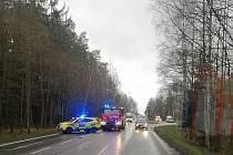 Nehoda na silnici mezi Humpolcem a Pelhřimovem.