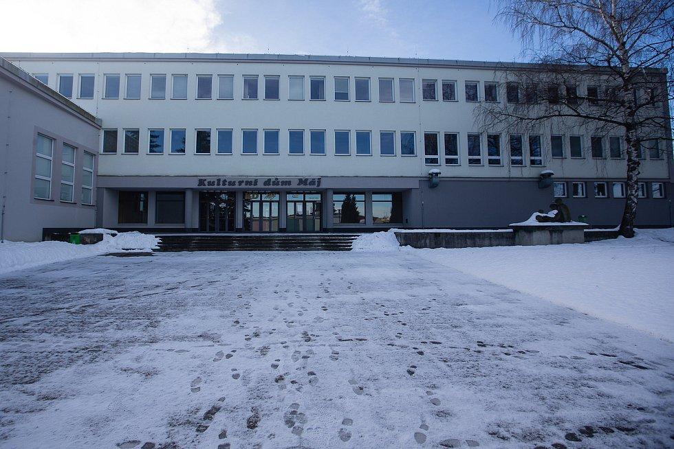 Očkovací centrum v Kulturním domě Máj v Pelhřimově.
