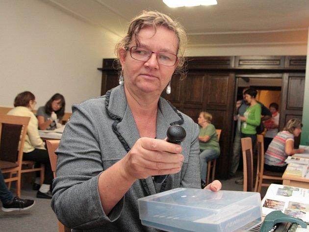 V rámci úterního Dne zdraví představila svoje aktivity mimo jiné i pelhřimovská pobočka Sjednocené organizace nevidomých a slabozrakých.