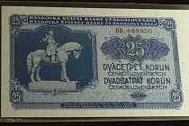 I tuto poreformní bankovku si až do konce června můžete prohlédnout na výstavě 1953 – rok smrti diktátorů v pelhřimovském Muzeu Vysočiny.