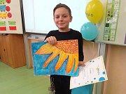 Ivo Palec se svou kresbou.