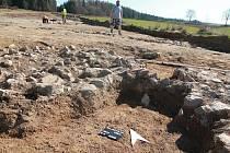 Archeologický výzkum v Salačově Lhotě.