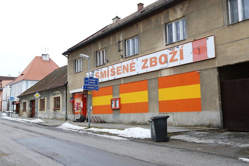 Nový Rychnov. Prodejna potravin