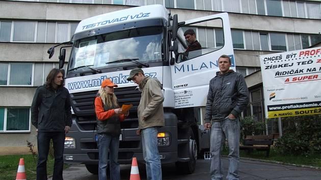 Kamion v Pelhřimově